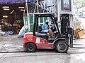 HK Sai Ying Pun 興漢道 Hing Hon Road 鏟車 Forklift n driver construction site December 2018 SSG 01.jpg