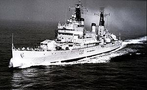 HMS Tiger (C20) - Image: HMS Tiger (ca. 1965) (20872081230)