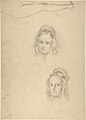 Hagar and Ishmael in the Wilderness (recto); Two Portrait Studies of the Artist's Wife, and a Study of a Leg and Torso (verso) MET DP805906.jpg