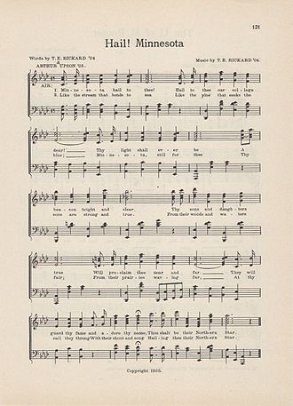 Hail! Minnesota - Sheet music for the college version
