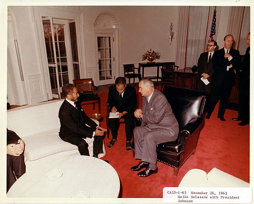 Haile Selassie with LBJ Nov 26, 1963