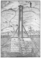 Schematic of the gibbet's main parts