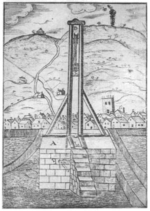 Halifax Gibbet - 17th-century engraving
