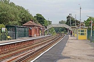 Hall Road railway station - Image: Hall Road Railway Station (geograph 2994485)