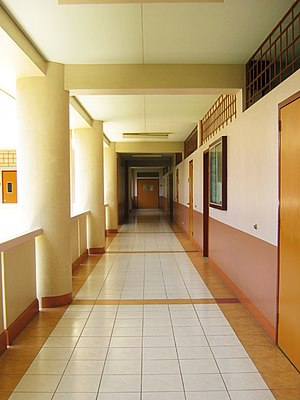Silliman University College of Business Administration - Image: Hallway, SU College of Business Administration