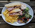 Ham baguette at Black Horse Inn, Nuthurst, West Sussex England.jpg