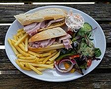 Ham baguette at Black Horse Inn, Nuthurst, West Sussex England.jpg