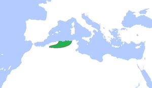 Hammadid dynasty - The Hammadid dynasty (green), c. 1100.