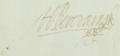 Handtekening van Hiëronymus van Beverningh (1614-1690) in 1675.png