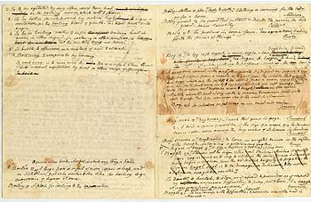 English: Handwritten drafts of dictionary entr...