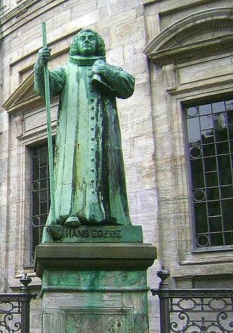 Hans Egede - Statue of Hans Egede by August Saabye, Marmorkirken in Copenhagen