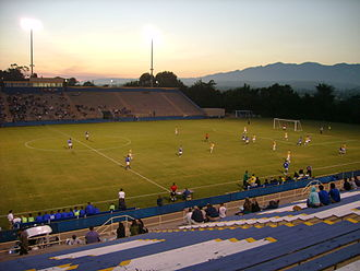 Harder Stadium - Harder Stadium in September 2006 looking northwest towards the Santa Ynez Mountains in Santa Barbara, California