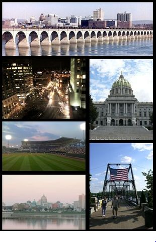 "From top to bottom, left to right: Harrisburg skyline; <a href=""http://search.lycos.com/web/?_z=0&q=%22Market%20Square%2C%20Harrisburg%22"">Market Square</a> in <a href=""http://search.lycos.com/web/?_z=0&q=%22Downtown%20Harrisburg%2C%20Pennsylvania%22"">Downtown Harrisburg</a>; <a href=""http://search.lycos.com/web/?_z=0&q=%22Pennsylvania%20State%20Capitol%22"">Pennsylvania State Capitol</a>; <a href=""http://search.lycos.com/web/?_z=0&q=%22Metro%20Bank%20Park%22"">Metro Bank Park</a>; <a href=""http://search.lycos.com/web/?_z=0&q=%22Walnut%20Street%20Bridge%20%28Harrisburg%2C%20Pennsylvania%29%22"">Walnut Street Bridge</a>; <a href=""http://search.lycos.com/web/?_z=0&q=%22Susquehanna%20River%22"">Susquehanna River</a>"