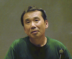 Murakami in 2005, giving a lecture at MIT