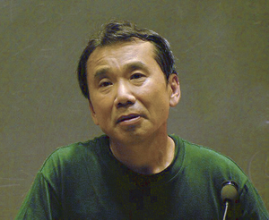 Haruki Murakami - Murakami in 2005, giving a lecture at MIT.