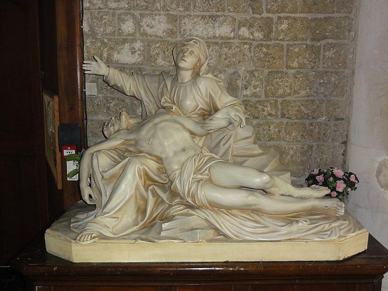 Haspres (Nord, Fr) église, statue pietà