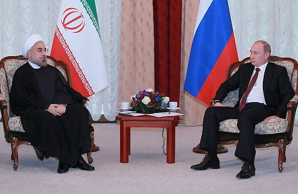 Rouhani meeting with Russian President Vladimir Putin in the 13th summit of Shanghai Cooperation Organization (SCO) - Bishkek, 13 September 2013 - Hassan Rouhani