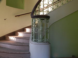 Alex Giualini Plaza - Interior stairway (building closed to the public)
