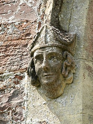 Henry Phillpotts - Carved head of a bishop at Chevithorne, possibly that of Henry Phillpotts