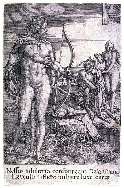 Herakles mit Pfeil und Bogen