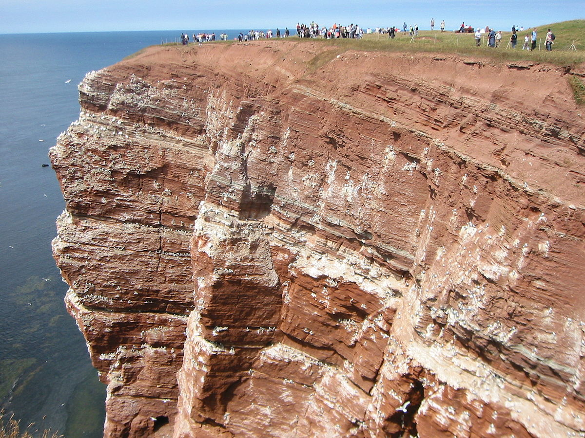 Helgoland wikipedia for Terrazas fluviales