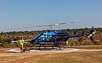 Helicóptero BELL 206L-3 LongRanger, Victoria Falls, Zimbabue, 2018-07-27, DD 01.jpg