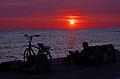Helsingborg, sunset 2013-07-08.jpg
