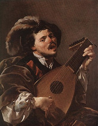 The Lute Player (Hals) - Image: Hendrick ter Brugghen Lute Player WGA22182