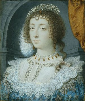 Henrietta Maria of France - A miniature of Henrietta Maria by John Hoskins.
