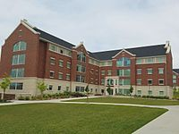 Photograph of Building 8 in Heritage Halls.