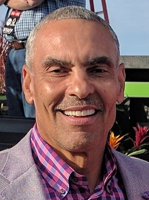 Herm Edwards - Herm Edwards following the filming of NFL Live at Disney Springs during the 2017 Pro Bowl week