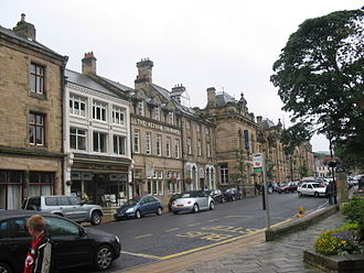 Hexham - Beaumont Street in Hexham with the Courant offices