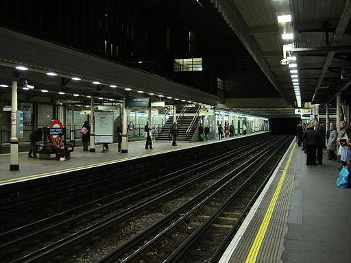 High Street Kensington tube platforms
