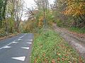 Hilltop road and parallel track near Joy's Green - geograph.org.uk - 612391.jpg