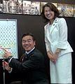 Hiroshi Hase and Mayuko Toyota cropped Kosuke Morita Hiroshi Hase and Mayuko Toyota 20160609 1.jpg
