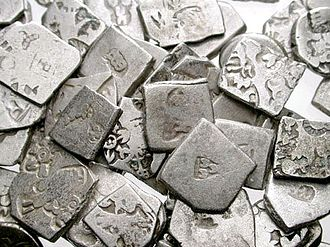 Punch-marked coins - A hoard of punch-marked coins.