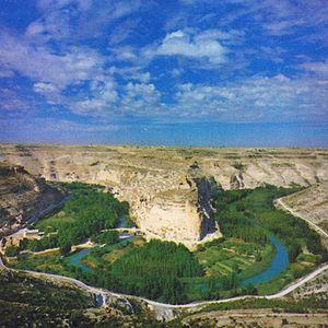 Paisaje de la Manchuela albaceteña: hoces del río Júcar.