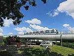 Hochbahnabschnitt Pontchaillou - Anatole France der Metro Rennes.jpg