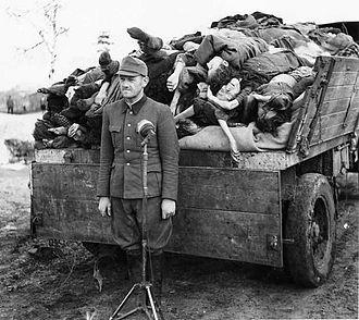 Belsen trial - Franz Hössler at Bergen-Belsen