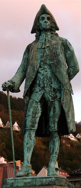 Ludvig Holberg - Statue of Holberg in Bergen, Norway