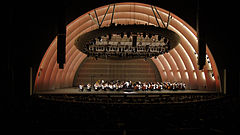 Concert au Hollywood Bowl, la nuit