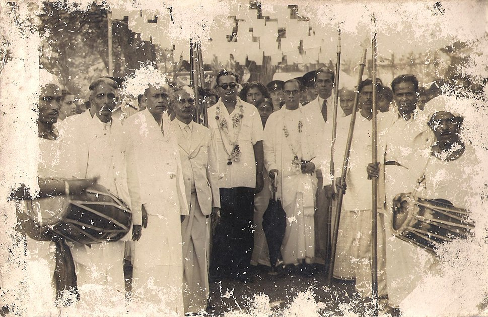 Hon.S.W.R.D.Bandaranayaka in Kandy Ceylon as the United National Party Minister of Health and Local Government (Before 1951 Sept)