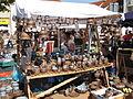 Hrnčířské trhy Beroun 2011, keramiky s modrými vršky (Lenka Gonzálezová).JPG