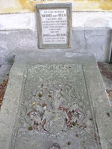 Grave of Melas and his wife Josefa in Tynec nad Labem Hrobka generala Melase.jpg
