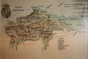 Varaždin County (former) - Old map of Varaždin County