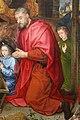 Hugo van der Goes, adorazione dei pastori tra due profeti, 1480 ca. 16.JPG
