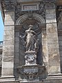 Hungarian State Opera House. Four niches are in front of the foyer. Each one has a Muse statue. Thaleia statue (Gyula Donáth work). - District VI. Andrássy Ave 22.JPG