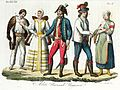 Hungarian traditional costumes, Illustration for Il costume antico e moderno by Giulio Ferrario 1831 (9).jpg