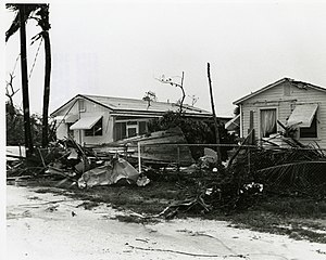 Hurricane Agnes - Damage in Key West, Florida, from a tornado spawned by Agnes