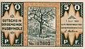 Husbyholz, Notgeld, 1921, 50 Pfennig, Bismarckdenkmal, Vorderseite.jpg